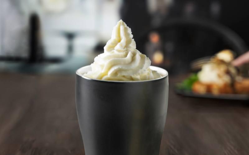Inaktiv varm choklad med mjukglass